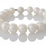 Класическа гривна от едри, бели, естествени перли 1