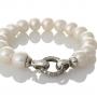 Красива гривна от сребро и бели, естествени перли 1