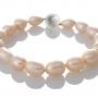 Елегантна гривна с розови, овални, естествени перли 1
