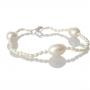 Гривна от ситни и едри, бели, естествени перли 1