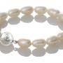 Красива гривна от овални, бели, естествени перли 1