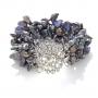 Красива гривна от естествени, черни перли в различна форма 1