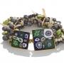 Многоцветна гривна от муранско стъкло и естествени перли 1