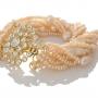 Нежна гривна от розови, естествени перли 1