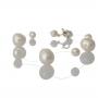Гривна от дребни и едри естествени бели перли 1