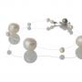 Красива гривна от естествени, бели перли 1