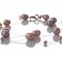 Красива гривна от естествени, лилави перли 1