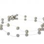 Нежна гривна от дребни, бели, естествени перли 1