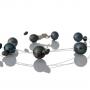 Колие от едри и дребни, естествени, черни перли 1