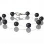 Нежна гривна от естествени, черни перли 1
