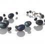 Колие от дребни и едри, овални, естествени перли 1