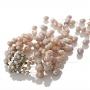 Богата гривна от естествени, лилави перли 1