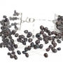 Елегантна гривна от естествени, черни перли и сребро 1