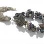 Гривна от естествени, черни перли на сърмен конец 1