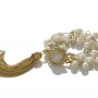 Гривна от естествени, бели перли на сърмен конец 1