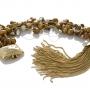 Гривна от естествени, кафяви перли на сърмен конец 1