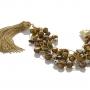 Гривна от естествени, кафяви перли на сърмен конец 2