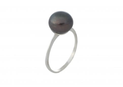 Нежен класически пръстен с красива естествена перла