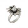 Пръстен във форма на цвете с елегантна естествена перла 1