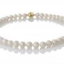 Класическо и елегантно колие от естествени бели перли 1
