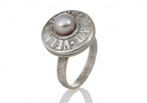 "Елегантен пръстен ""VELMAR"" с нежна естествена перла"