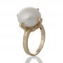 Стилен пръстен с красива едра естествена перла 3