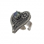 Неповторим пръстен от сребърен филигран с естествена перла 1
