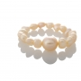 Нежен пръстен с естествени, розови перли 1