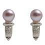 Нежни обеци с естествена перла, сребро и цирконии 5