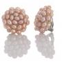 Плетени обеци с клипс от естествени, лилави перли 1