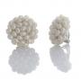 Плетени обеци с клипс от естествени, бели перли 1