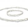 Комплект гривна и колие от нежни и естествени бели перли 1