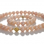 Комплект гривна и колие от естествени едри оранжеви перли 1