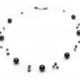 Екстравагантно колие на корда от ефектни черни естествени перли 1