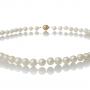 Изискано класическо колие от естесвени бели перли 1