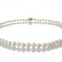 Елегантно класическо колие от натурални кръгли бели перли 1