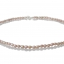Нежно колие от ситни и редки естествени перли в овална форма 2