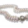 Двуредно колие от блестящи естествени бели и лилави перли 1