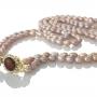 Ефектно дълго двуредно колие от естествени и редки лилави перли 1
