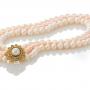 Красива триредна огърлица от бели и розови естествени перли 1