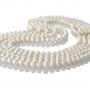 Петредно колие от кръгли бели естествени перли 1