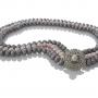 Уникално съчетание от редки естествени перли в графитен и лилав цвят 1