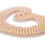 Пет наниза невероятни розови естествени перли 1