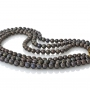 Три реда черни кръгли естествени перли и стилна закопчалка 1