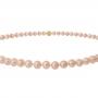 Класическо едноредно колие от естествени кръгли перли в оранжев цвят 1