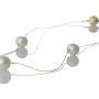 Нежно колие с три естествени кръгли бели перли 1