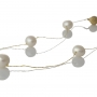 Пет красиви, бели, естествени перли на сърмен конец 1