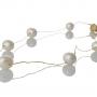 Изящно колие от кръгли, естествени, бели перли 1