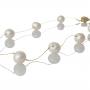 Красиво колие от кръгли бели естествени перли 1