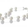 Нежно, едноредно колие с бели,естествени перли 1